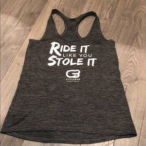 Tops - Cyclebar Ride It Like You Stole It Tank Size S